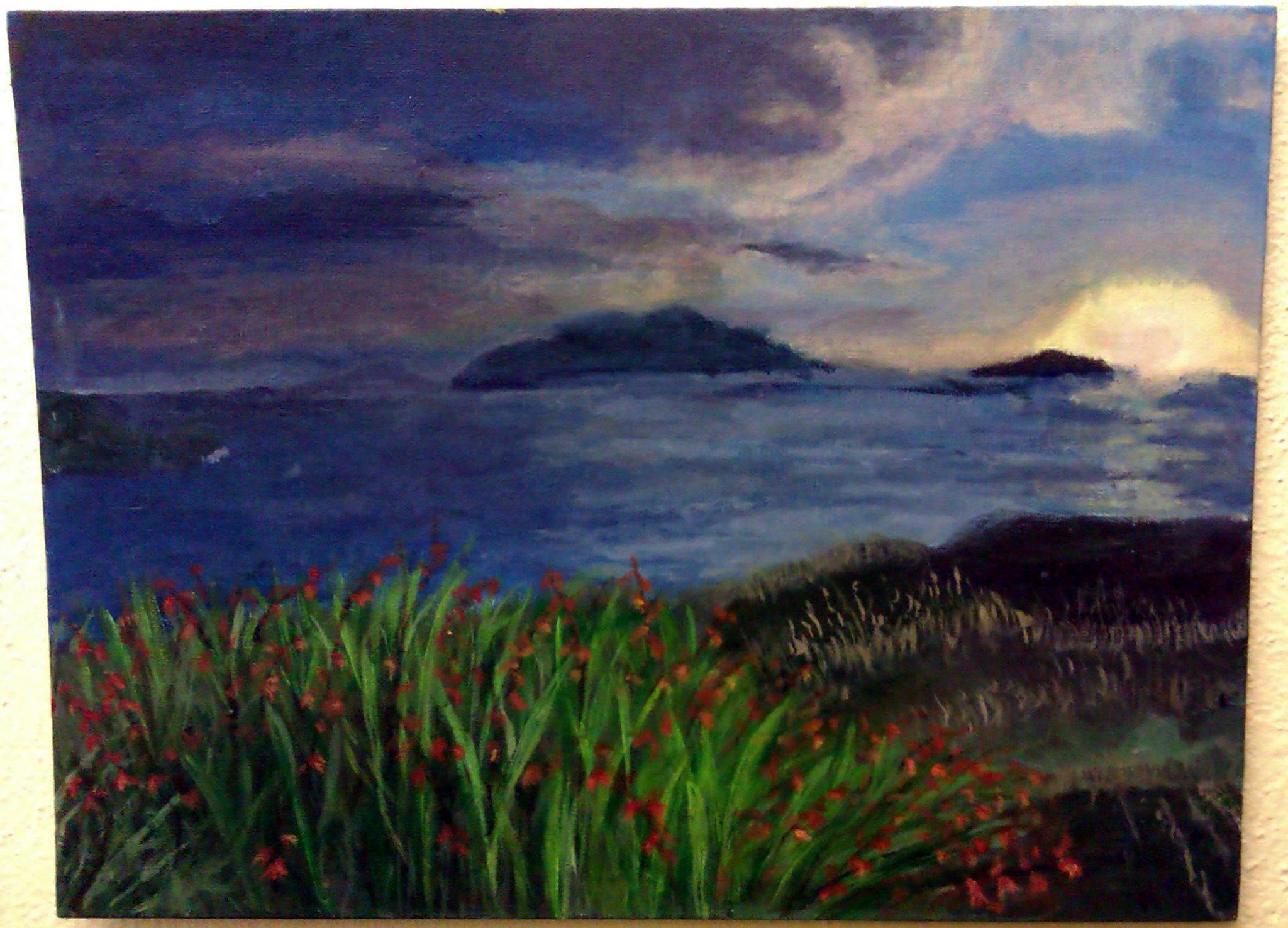 Art @MallowCollege  'Sunset over the Blaskets'