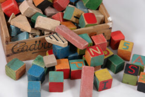 """Vintage children's blocks"" by H is for Home @Flickr"